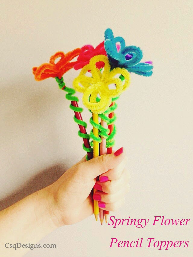 Springy Flower Pencil Toppers