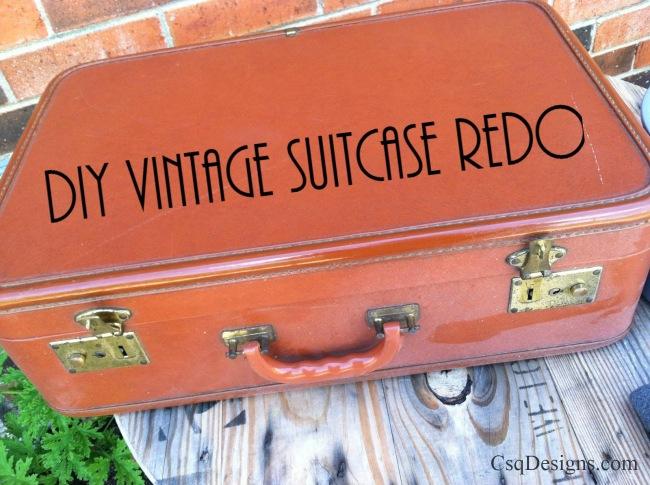 DIY Vintage Suitcase Redo
