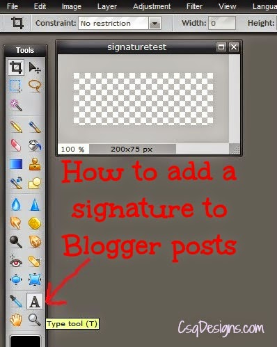 How to add a signature to Blogger posts